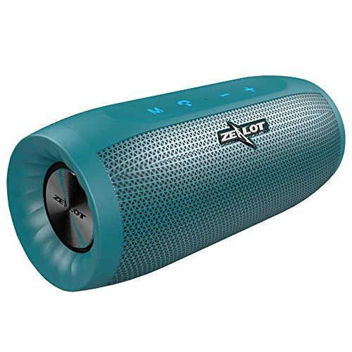 Bluetooth Lautsprecher mit Kraftvollem Klang Wireless Speaker mit Mikrofon 20W Bluetooth 5.0 Subwoofer für Indoor/Outdoor Kompatibel mit Apple und Android Geräten ZEALOT S16 Tragbarer Lautsprecher