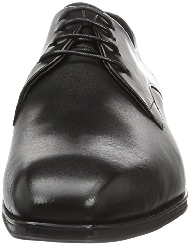 Hudson London Herren Kay Calf Black Derby Schwarz (Black)