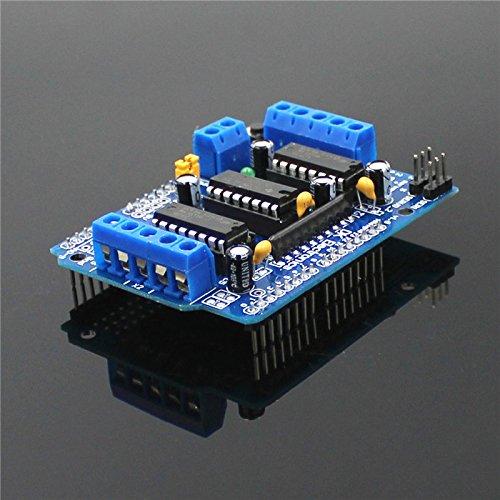 Motor-verdrahtung (GUTES PRODUKT 2019 (1 Stück) L293D Motor Control Shield Motor Drive-Erweiterungskarte für Arduino - Blau)