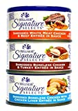 Wellness Natural Grain Free Signature Selects Shredded Wet Cat Food Variety Pack Box - 3 Flavors (Chicken, Beef, & Turkey) - 2.8 Ounces Each (12 Total Cans) by Wellness Natural Pet Food
