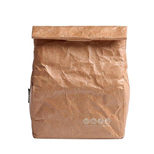 Yvonnelee - borsa termica per vivande di capienza 8 litri, per uomini, donne e bambini, piccola e con tracolla, ideale per scuola e lavoro 20 x11 x 25cm