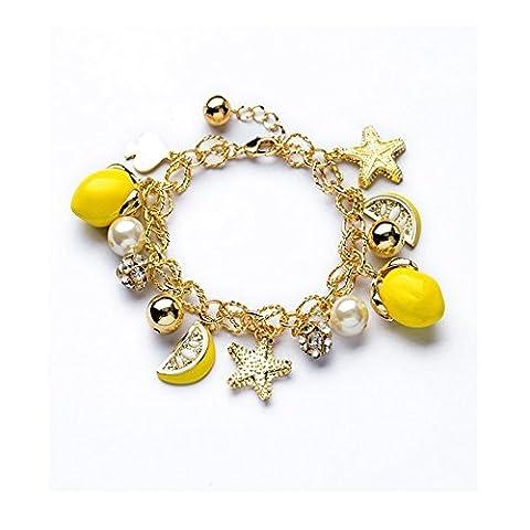 Darkey Wang Women's Fashion Fresh Lemon Bracelet by Darkey Wang