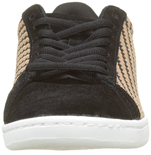 7acb57cc09c Le Coq Sportif Women's Courtset W Woven Black/Rose Gold Trainers, Beige ( Black/R
