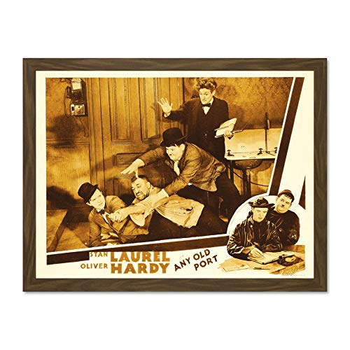 Doppelganger33 LTD Movie Film Any Old Port Laurel Hardy Silent Comedy Short Classic Large Framed Art Print Poster Wall Decor 18x24 inch Supplied Ready to Hang Laurel Hängen