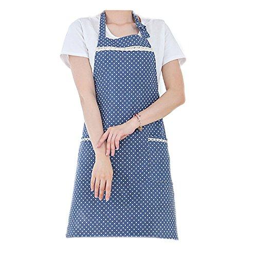G2PLUS Femme de cuisine cuisson tabliers, tablier, 100% coton professionnel d'atelier Tablier avec 2 poches