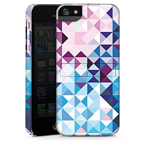 Apple iPhone 5s Housse Étui Protection Coque Pastel Motif Motif CasStandup blanc