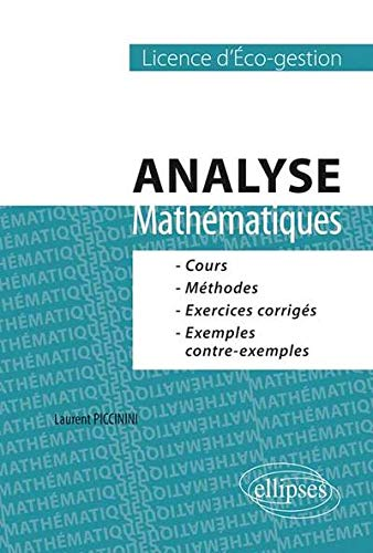 Analyse Mathématiques Licence d'Éco-Gestion