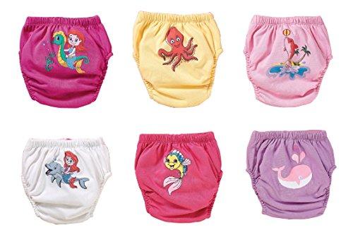 Meerestiere 6er Pack waschbare Trainerhosen in drei Gr. | Trainingswindel | Lernwindel | Toilettentrainerhose | Baby Training Pants | Kinder Unterwäsche Unterhosen | Windelhose | Töpfchen (Set 1, 90)