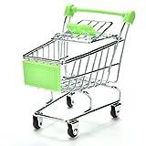 37YIMU® Divertido Juguete del Loro Gato del pájaro Mini carro de compras del supermercado Niños Caja de Crecimiento(Verde)