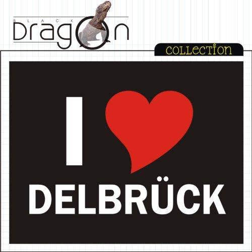 T-Shirt mit Städtenamen - i Love Delbrück - Herren - unisex Schwarz