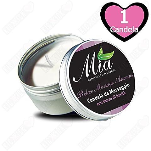 Candela da Massaggio all'Ananas con Burro di Karitè - Relax Massage 80 ml