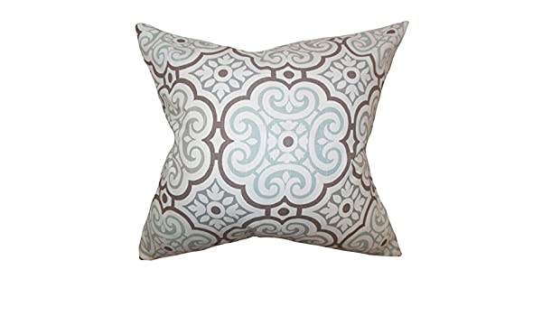 The Pillow Collection Nascha Geometric Pillow Snowy