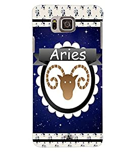 ColourCraft Zodiac Aries Back Case Cover for SAMSUNG GALAXY ALPHA G850