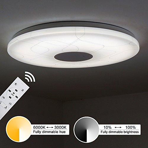 Kusun® Plafoniere a LED controllo remoto (2800K - 6500K dimmerabile / RGB dimmerabile) Ø38cm 15W 1500LM CL819-Y-15W