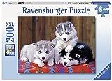 Ravensburger Italy 128235 - Puzzle Tre Cuccioli di Husky, 200 Pezzi, Multicolore