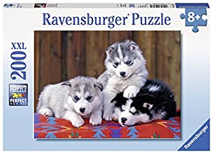 Ravensburger Tres cachorros de Husky, rompecabezas de 200 piezas (128235)