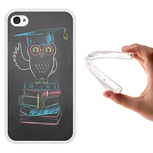 iPhone 4 iPhone 4S Hülle, WoowCase Handyhülle Silikon für [ iPhone 4 iPhone 4S ] Herzen aus Federn Handytasche Handy Cover Case Schutzhülle Flexible TPU - Transparent Housse Gel iPhone 4 iPhone 4S Transparent D0313