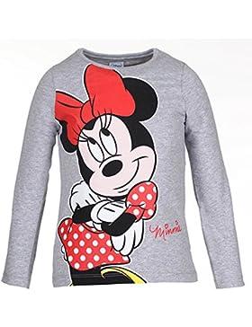 DISNEY Mädchen Minnie Mouse Shirt, hellgrau meliert