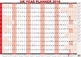 2016 UK Unmounted A1 Large Year Office Wall Planner Calendar Red