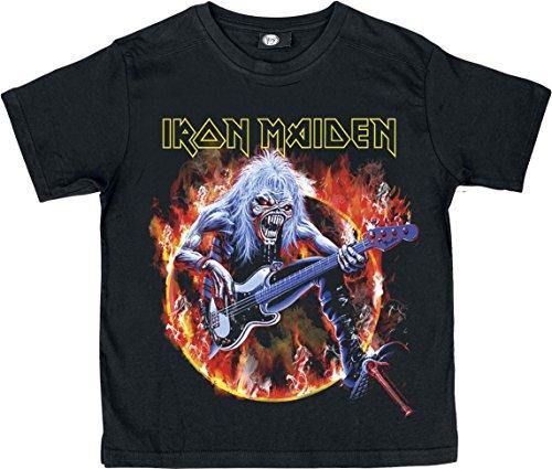 Iron Maiden Eddie Bass Camiseta de Niño/a Negro 104