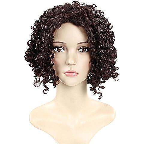 XYXY Parrucca africano ladies spalla-lunghezza parrucca parrucca Crespo