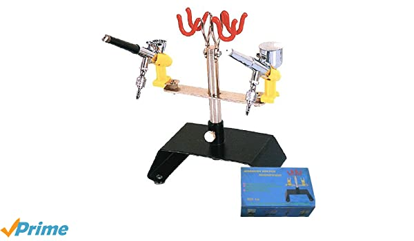 Abest support Clamp-On support pour a/érographe de haute qualit/é kit 6/support de fixation pour pistolet de table Banc station pour a/érographe 360degree