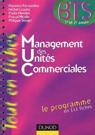 Management des unités commerciales BTS par Florence Fernandez