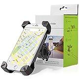 Handyhalterung Fahrrad, 360 drehbar einstellbare Handy-Cradle mit ausziehbaren Silikon-Bügelhalterung auf Universal Fahrrad Lenker & Motorrad Cradle für iPhone, Samsung, Huawei, Galaxy S3 / S4 / S5 / S6 / S7 / S8, Nexus, HTC, LG & GPS Geräte