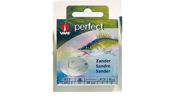 Hakengr/ö/ße:1//0 VMC Perfect Zander Einzelhaken rot Zanderhaken