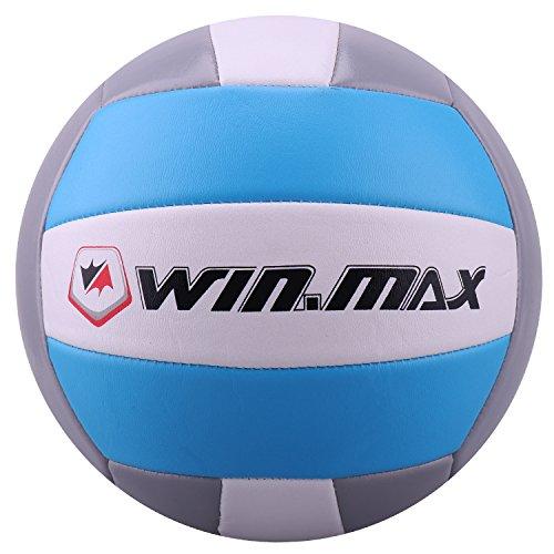 Molee Beachvolleyball,Volleyball,Beach und Funball Größe 5 Weicher Ballkontakt (Hellblau/Grau)