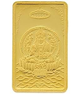 TBZ - The Original 5 gm, 24k(999) Yellow Gold Laxmi Precious Coin