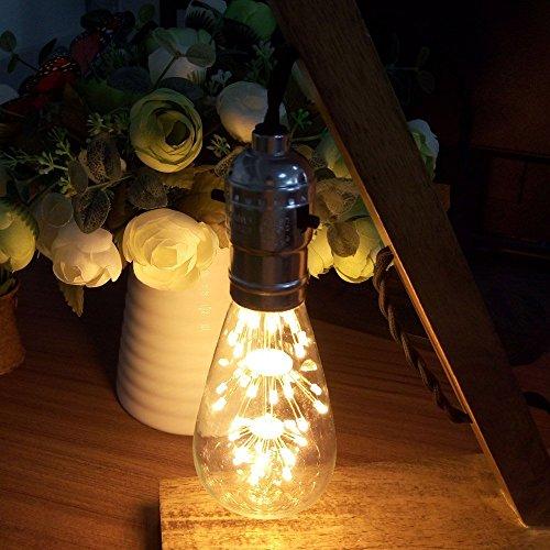 KINGSO E27 ST64 LED Stern Edison Glühbirne 3W 47led Dekorative Vintage Glühlampe Kronleuchter Deko Birne Ideal für Nostalgie und Retro Beleuchtung 220V mit Zertifikat Warmweiß - 4