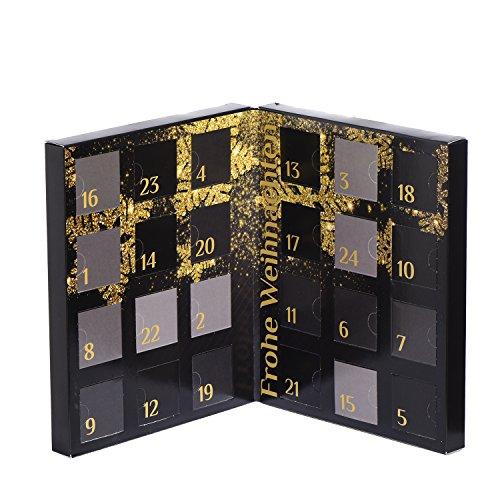 Schöner Adventskalender aus Karton zum Selberbefüllen für die Adventszeit