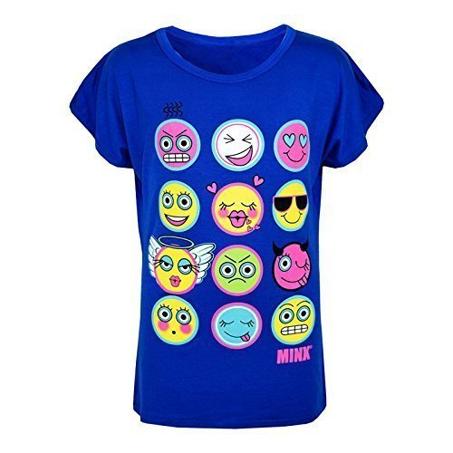 A2Z 4 Kids Enfants Filles T Shirt Emoji Emotions Imprimer - Emoji Top Royal 13 a2z4kids