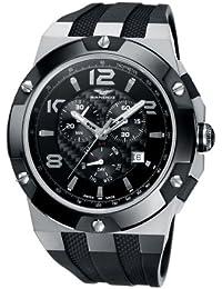Sandoz 81289-05 - Reloj de caballero de cuarzo, correa de caucho color negro