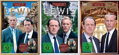 Lewis - Der Oxford Krimi - Collectors Box 1+2+3 (Staffel 1-9) im Set - Deutsche Originalware [38 DVDs]