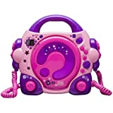 BigBen CD47 CD Player with 2 Microphones - Pink