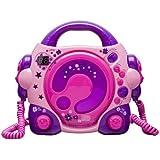 BigBen CD47 - Reproductor CD con 2 micrófonos, rosa