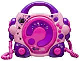 Bigben Interactive CD47 KIDS Lettore CD con 2 Microfoni , Rosa immagine