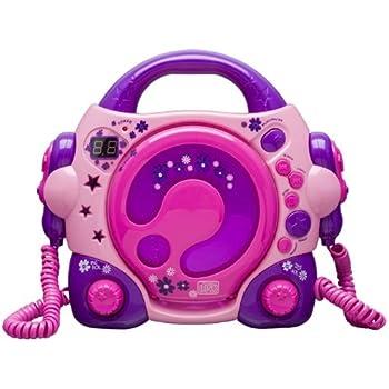 BigBen CD47 AU303261 Lecteur CD avec 2 Microphones Rose