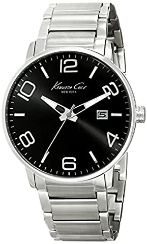 Kenneth Cole New York Homme KC9303 Dress Sport Black Dial Analog Bracelet Montre