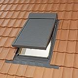 SOLSTRO Dachfenster Rollladen für M4A, M04, 78X98 cm Modelle von Solstro, Dakstra, Fakro, Velux V21 Dachfenster inkl. Motoreinheit. 10 Jahre Garantie. Inkl. Fernbedienung (elektrisch) und elektro Motor