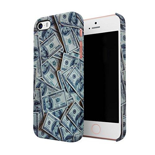 Hundred Dollar Bills Grand Millionaire Thug High Life Dünne Rückschale aus Hartplastik für iPhone 5 & iPhone 5s & iPhone SE Handy Hülle Schutzhülle Slim Fit Case cover
