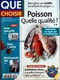 QUE CHOISIR [No 382] du 01/05/2001 - LAVE-VAISSELLE - NETTOYANTS WC - THES VERTS - POISSON QUELLE QUALITE - CUISINIERES - FOURS
