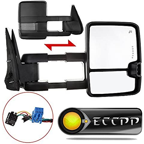 ECCPP Pair For 03-07 Chevy GMC Towing Power Heated Signal/Clearance Light Side Mirrors by ECCPP
