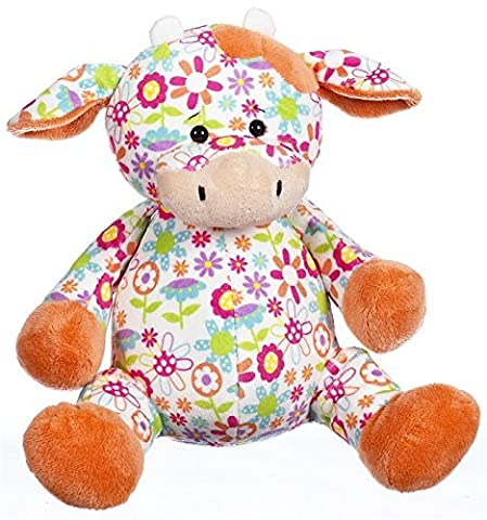 Ganz 11 Floral Cuties Cow Plush Toy by Ganz