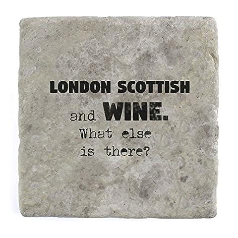 London Scottish und Wein Was ist noch?–Marble Tile Drink Untersetzer