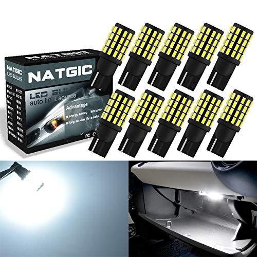 Ngcat T10 168 W5W Ampoule Led 800LM 6000K 3014 54-ex pour feux de plaque d'immatriculation latéraux de stationnement 3.1W 12V-24V