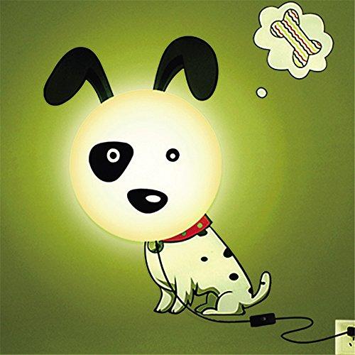 Dormitorio de perro luz de noche creativo 3D wallpaper bricolaje pared lámpara de luces de cama, luces pared lateral, 25W, Ø 28 cm