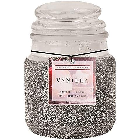 Giara di glitter Candele Profumate Silver Vanilla
